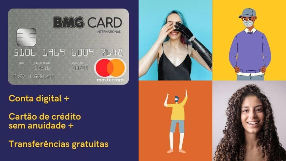 Meu BMG - Conta digital, cartão de crédito e transferência gratuitas.