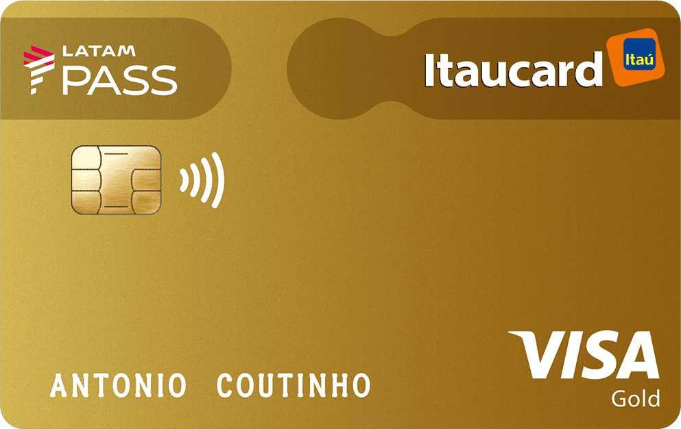 CARTÃO LATAM PASS ITAUCARD VISA GOLD